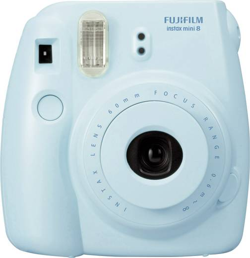 appareil photo d veloppement instantan fujifilm instax mini 8 bleu. Black Bedroom Furniture Sets. Home Design Ideas
