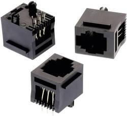 Embase modulaire verticale non blindée 6P6C avec traverse RJ45 Würth Elektronik 615006138521 Pôle: 6P6C noir 1 pièce