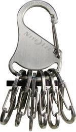 Mousqueton pour clé NITE Ize NI-KLK-11-R3 argent 1 pc(s)