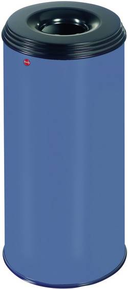Corbeille à papier 50 l Hailo ProfiLine safe XL (Ø x h) 330 mm x 630 mm bleu couvercle à effet extincteur de flamme 1 pc