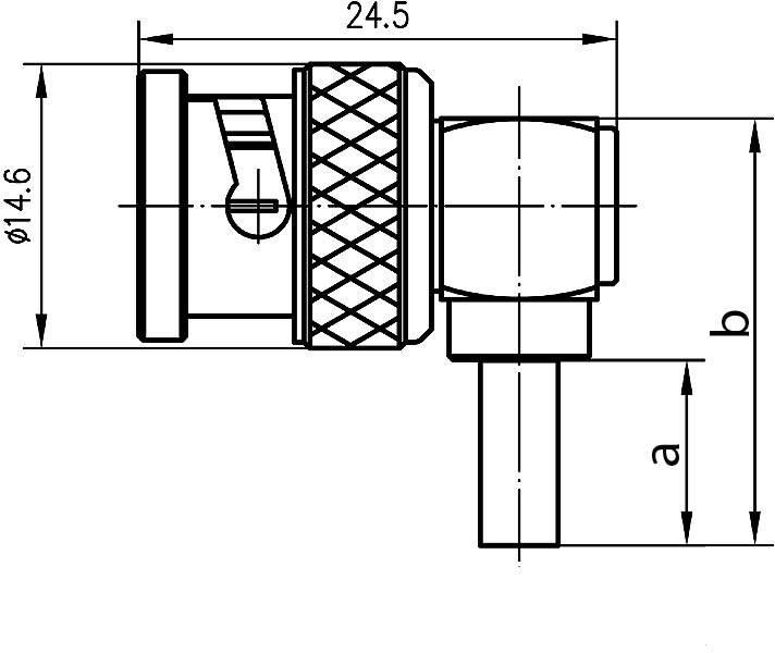 Connecteur BNC mâle coudé 50 Ω Telegärtner J01000A0006 1 pc s