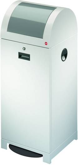 Poubelle 70 l Hailo ProfiLine WSB plus XXL (l x h x p) 400 x 1020 x 400 mm aluminium blanc mécanisme à pédale 1 pc(s)