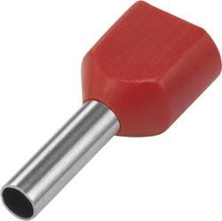 966144-4 TE Connectivity Embout double d'extrémité de câble 1 mm² x 8 mm partiellement isolé rouge 500 pc(s)