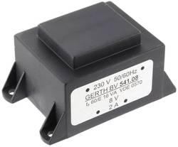 Transformateur pour circuits imprimés Gerth PTA540801 1 x 230 V 1 x 8 V/AC 16 VA 2000 mA 1 pc(s)
