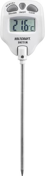 Thermomètre à sonde à piquer VOLTCRAFT DET1R DET1R -10 à 200 °C Type de sonde K