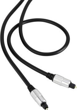Câble de raccordement SpeaKa Professional SP-4655396 [1x Toslink mâle (ODT) - 1x Toslink mâle (ODT)] 5 m noir gaine ultr