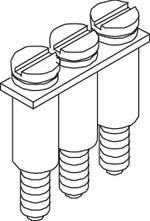 Barrette de jonction 2 pôles 1 pc(s) ABB BJM62-2P 1SNA 173 217 R2600