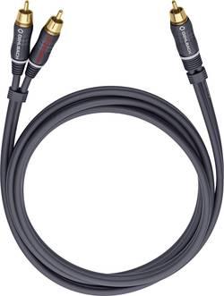 Câble audio Oehlbach 23703 [2x Cinch / RCA mâle - 1x Cinch / RCA mâle] 3 m anthracite contacts dorés