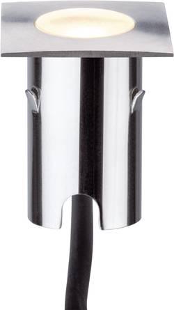 Spot LED extérieur encastrable LED intégrée Paulmann 93785 blanc chaud 2.8 W argent set de 4