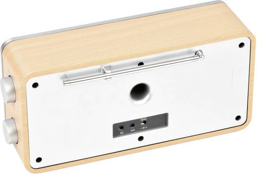 Radio de bureau dual ir 6s audio stéréo jack 3.5 mm spotify bois