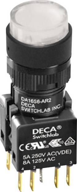Bouton-poussoir à rappel DECA ADA16S6-MR1-B2KW 250 V/AC 5 A 1 x Off/(On) IP65 à rappel 1 pc(s)