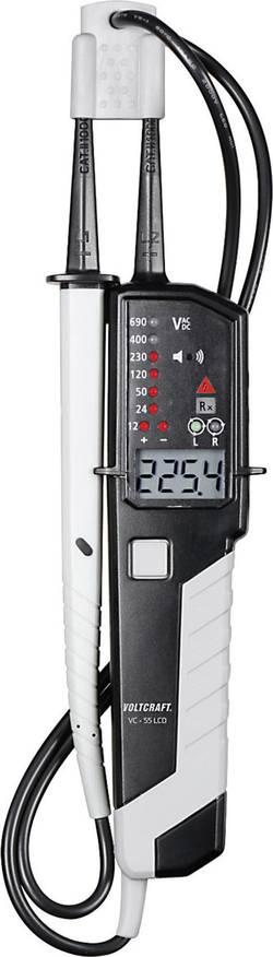 Testeur VOLTCRAFT VC 55LCD 12 - 690 V AC ou DC Affichage:LED, LCD, buzzer