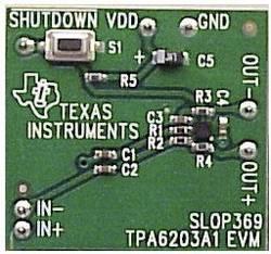 Carte de développement Texas Instruments TPA6203A1EVM 1 pc(s)