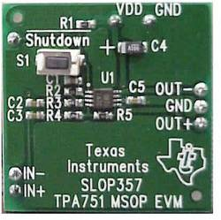 Carte de développement Texas Instruments TPA751EVM 1 pc(s)