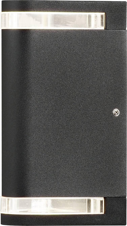 Up-Down Wandleuchte MODENA Aluminium schwarz IP44 GU10 Höhe 28,5 cm