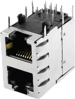Embase femelle modulaire double 2x1 port blindé CAT 5 BEL Stewart Connectors SS-738811S-PG4-AC embase femelle horizontal