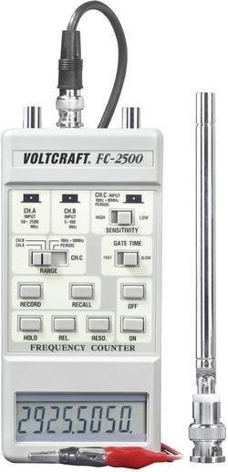 Fréquencemètre FC-2500 Etalonné selon DAkkS VOLTCRAFT FC-2500 FC-2500