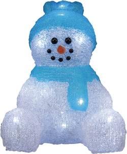 Figurine en acrylique bonhomme de neige Polarlite LBA-52-001 LED blanc froid