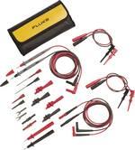 Fluke TL81A Set de cordons de mesure de sécurité[Banane mâle 4 mm -Banane mâle 4 mm ] 1 m;noir, rouge