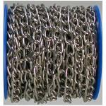 Chaîne à anneaux soudés acier nickelé nickel 15 m