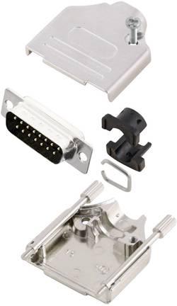 Kit SUB-D mâle 15 pôles MH Connectors MHDTZK15-DM15P-K 180 ° fût à souder 1 pc(s)