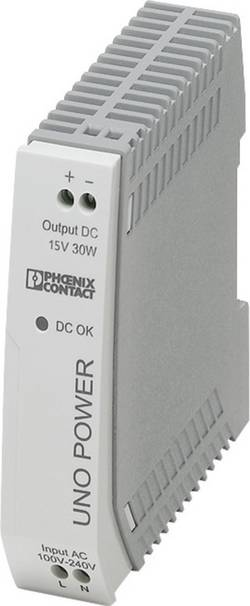 Alimentation rail DIN Phoenix Contact UNO-PS/1AC/15DC/30W 85 V/DC 2 A 30 W 1 x
