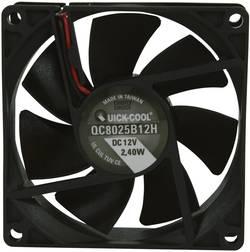 Ventilateur axial QuickCool QC8025B12H 12 V/DC 67.96 m³/h (L x l x h) 80 x 80 x 25 mm 1 pc(s)