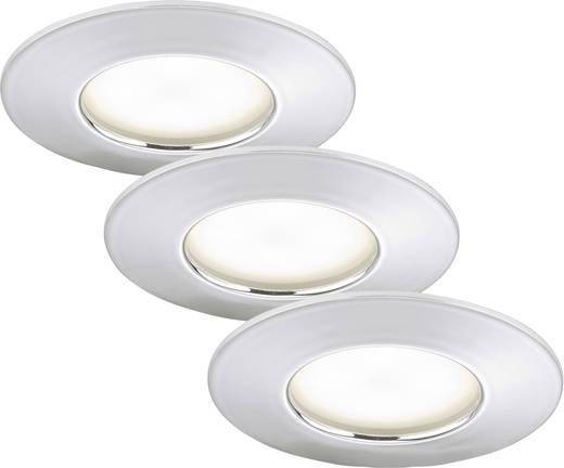 Spot encastrable led pour salle de bain led int gr e briloner 7204 038 blanc chaud 15 w chrome - Spot encastrable salle de bain ...