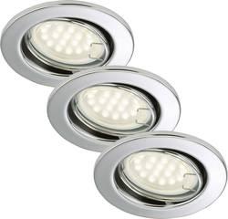 Spot encastrable LED GU10 Briloner 7208-038 blanc chaud 9 W chrome set de 3