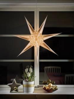 Etoile de Noël étoile Konstsmide 2984-280 LED blanc, or, marron