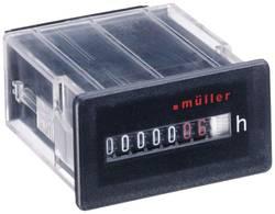 Compteur d'heures de fonctionnement à encastrer 50x25mm 7 chiffres Müller BW3018