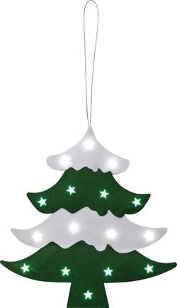 Décoration de Noël LED sapin de Noël LED vert, blanc froid Polarlite LDE-02-003 vert, blanc