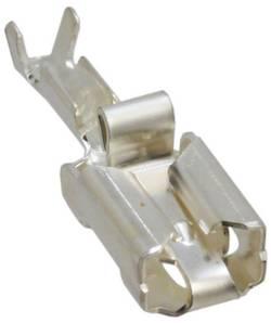 Cosse clip 6.35 mm x 0.81 mm TE Connectivity 160773-4 anti-vibrations 0.50 mm² 1 mm² non isolé argent 1 pc(s)