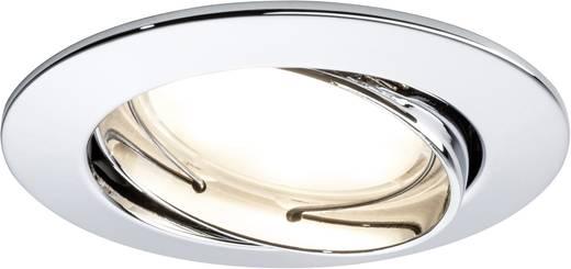 Spot LED encastrable LED intégrée Paulmann Coin 92780 blanc chaud 20.4 W chrome set de 3