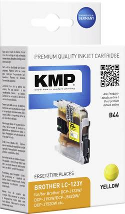 KMP Encre remplace Brother LC-123 compatible jaune B44 1525,0009