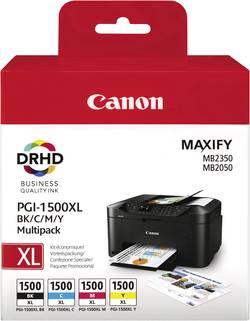 Pack de cartouches d'origine Canon PGI-1500 XL BKCMY noir, cyan, magenta, jaune