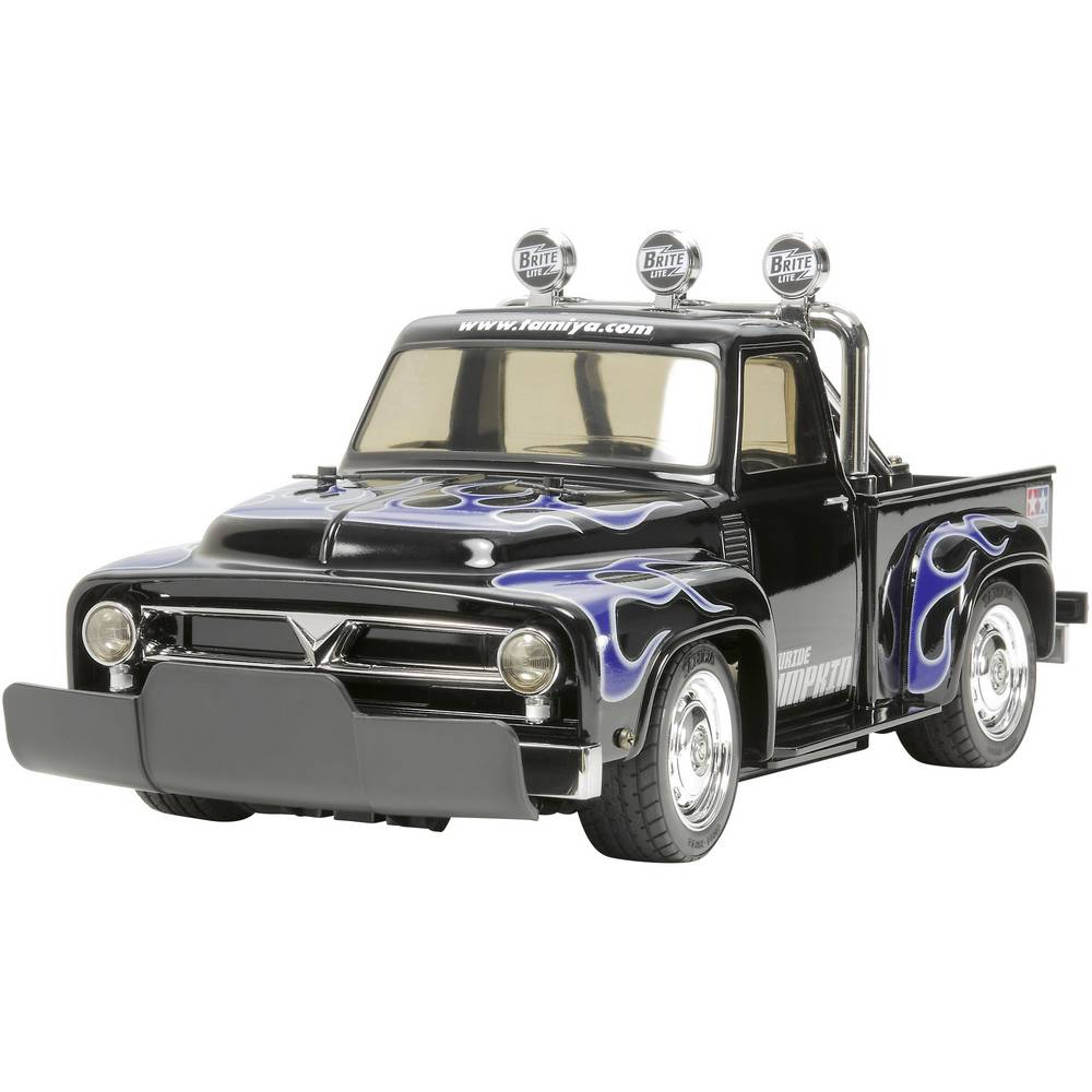 auto rc lectrique voiture de tourisme tamiya lowride pumkin brushed 1 10 propulsion arri re kit. Black Bedroom Furniture Sets. Home Design Ideas