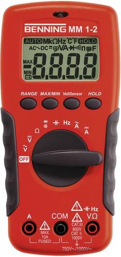 Multimètre numérique Benning MM 1-2 CAT II 1000 V, CAT III 600 V Affichage (nombre de points):2000