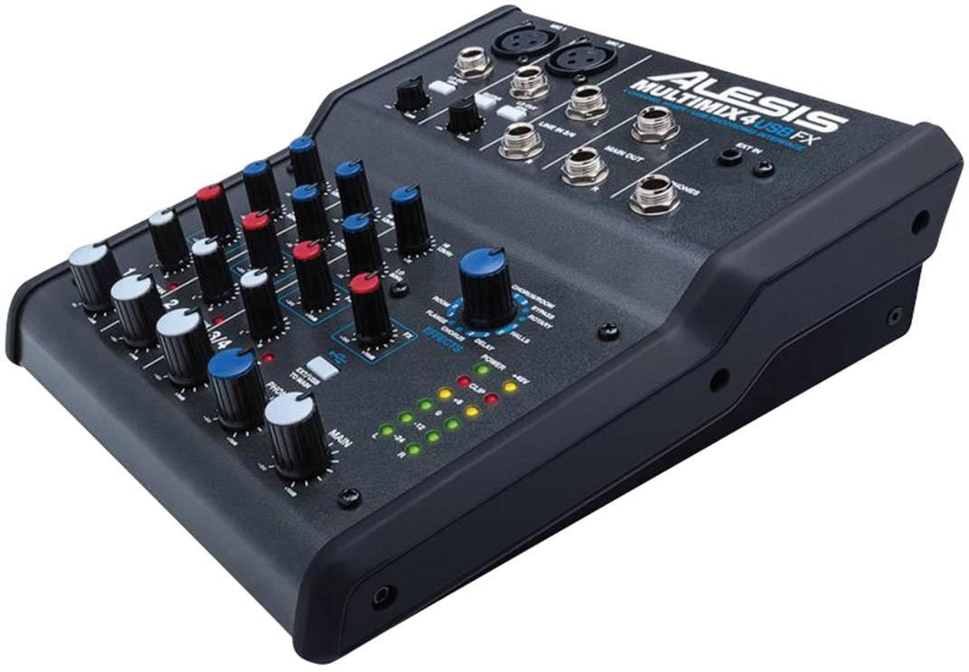 Table De Mixage Alesis Multimix 4 Usb Fx Conrad Fr