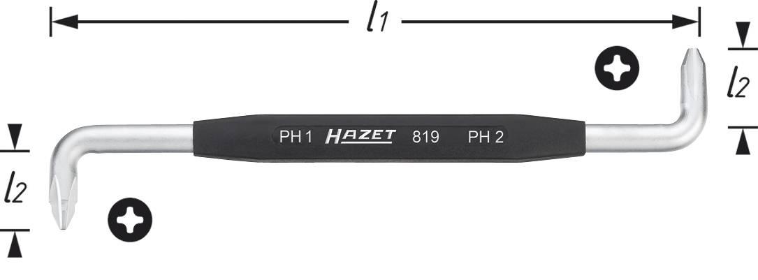 Hazet 2115-T27 Cl/é m/âle coud/ée torx int/érieur Taille T/27