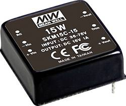 Convertisseur DC/DC Mean Well SKM15B-15 1000 mA
