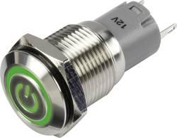 Bouton-poussoir à accrochage TRU COMPONENTS LAS2GQF-11ZET/G/12V/S/P 1303025 48 V/DC 2 A 1 x On/On IP65 à accrochage 1 pc