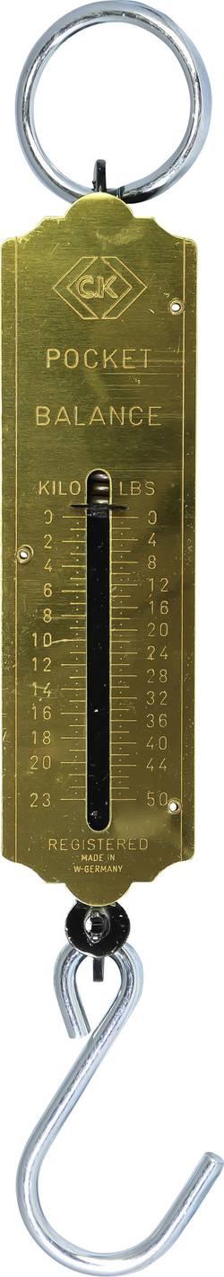 Peson à ressort C.K. Plage de pesée (max.) 23 kg Etalonné selon d'usine (sans certificat)
