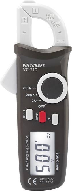 Pince ampèremétrique VOLTCRAFT VC-310 numérique Etalonné selon: d'usine (sans certificat) CAT II 600 V, CAT III 300 V A