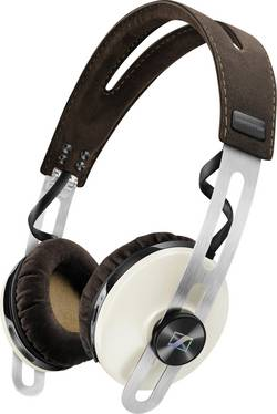 Casque Bluetooth supra-aural Sennheiser Momentum (M2 OEBT Ivory) NFC, pliable, suppression du bruit, micro-casque ivoire