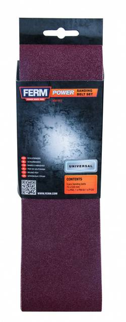 Bande abrasive Ferm BSA1013 Grain 120 (L x l) 533 mm x 75 mm 3 pc(s)