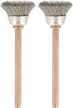 Brosse en acier inoxydable Dremel 531 26150531JA Brosse en acier inoxydable Diam. tige 3.2 mm 2 pc(s)