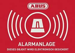 """Autocollants d'avertissement """"système d'alarme"""" ABUS AU1423 rouge, blanc (l x h) 74 mm x 52.5 mm"""