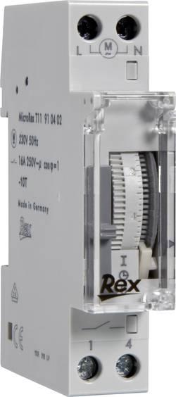 Programmateur horaire pour rail REX Zeitschaltuhren 910402 230 V 16 A/250 V 1 pc(s)