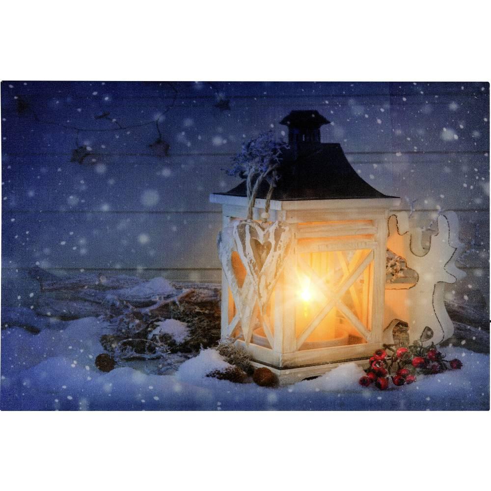 tableau led lanternes polarlite lba 55 001 ampoule led blanc chaud multicolore. Black Bedroom Furniture Sets. Home Design Ideas